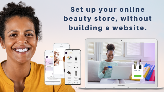 Sell beauty products online